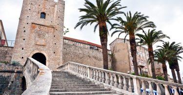 Main entrance in old medieval town Korcula-Croatia-Dalmatia